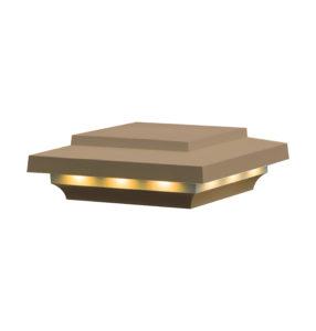 Azek island brownstone lighted pyramid cap