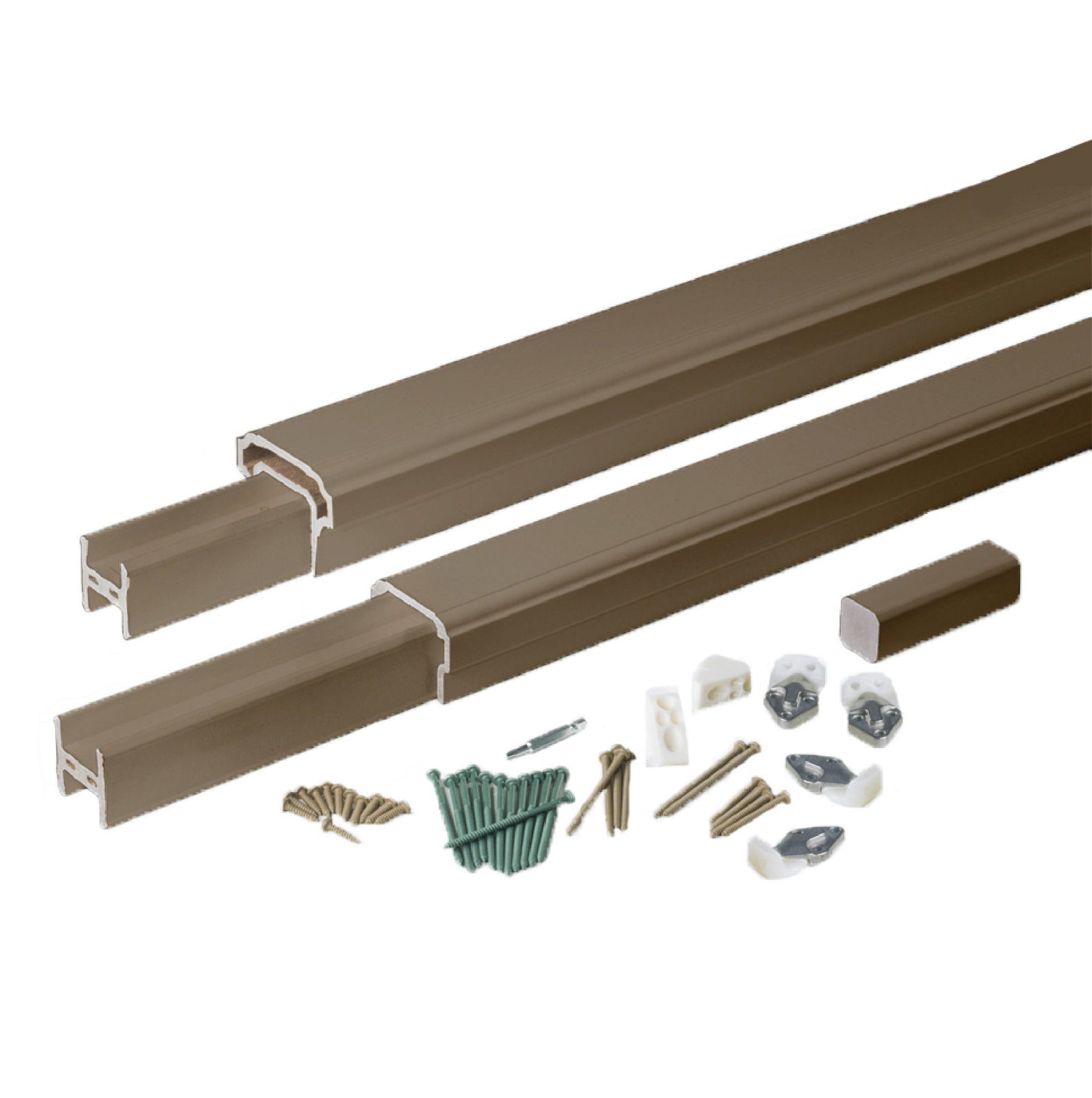 Azek 6 Top And Bottom Rail Kit In Brownstone Schillings