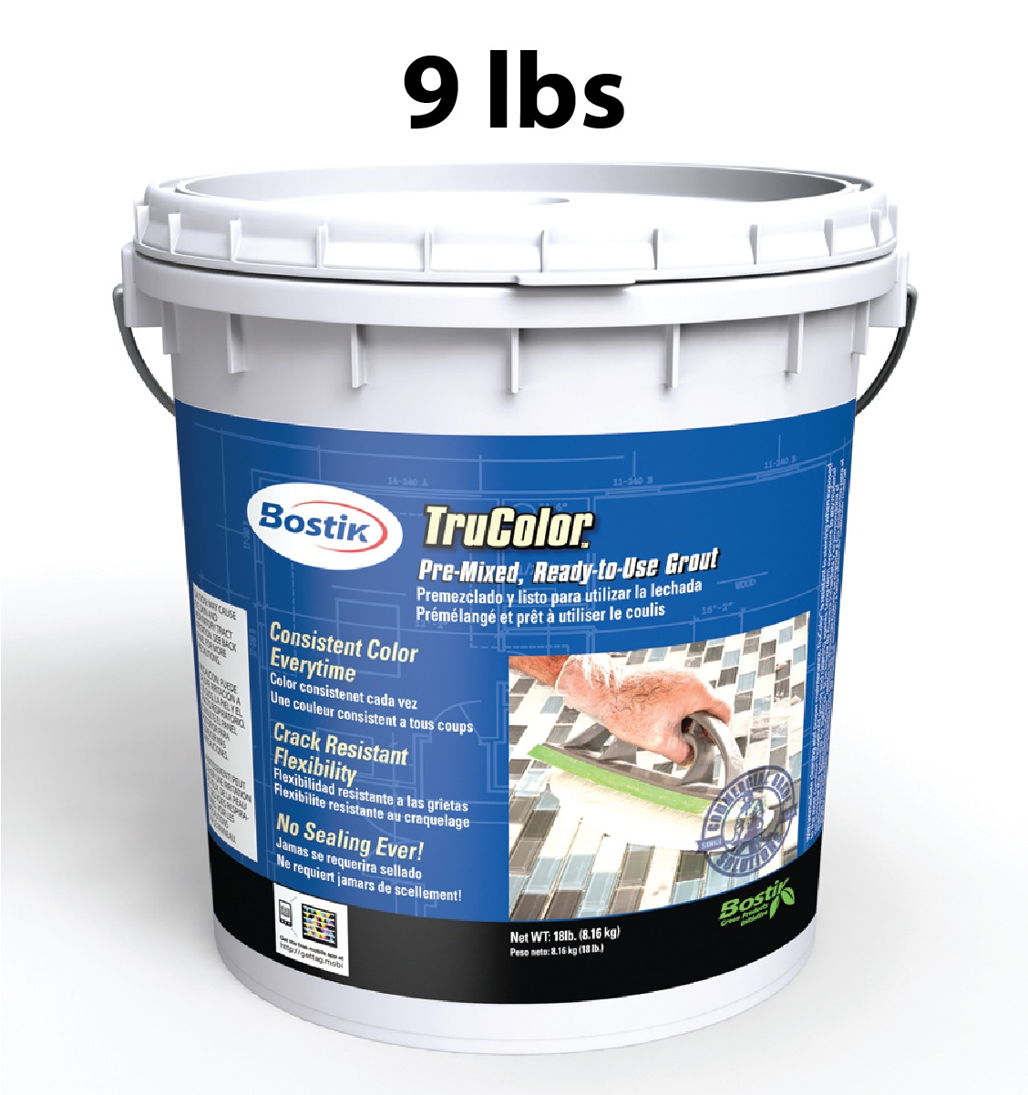 Bostik Trucolor Grout 9 Lb Bucket