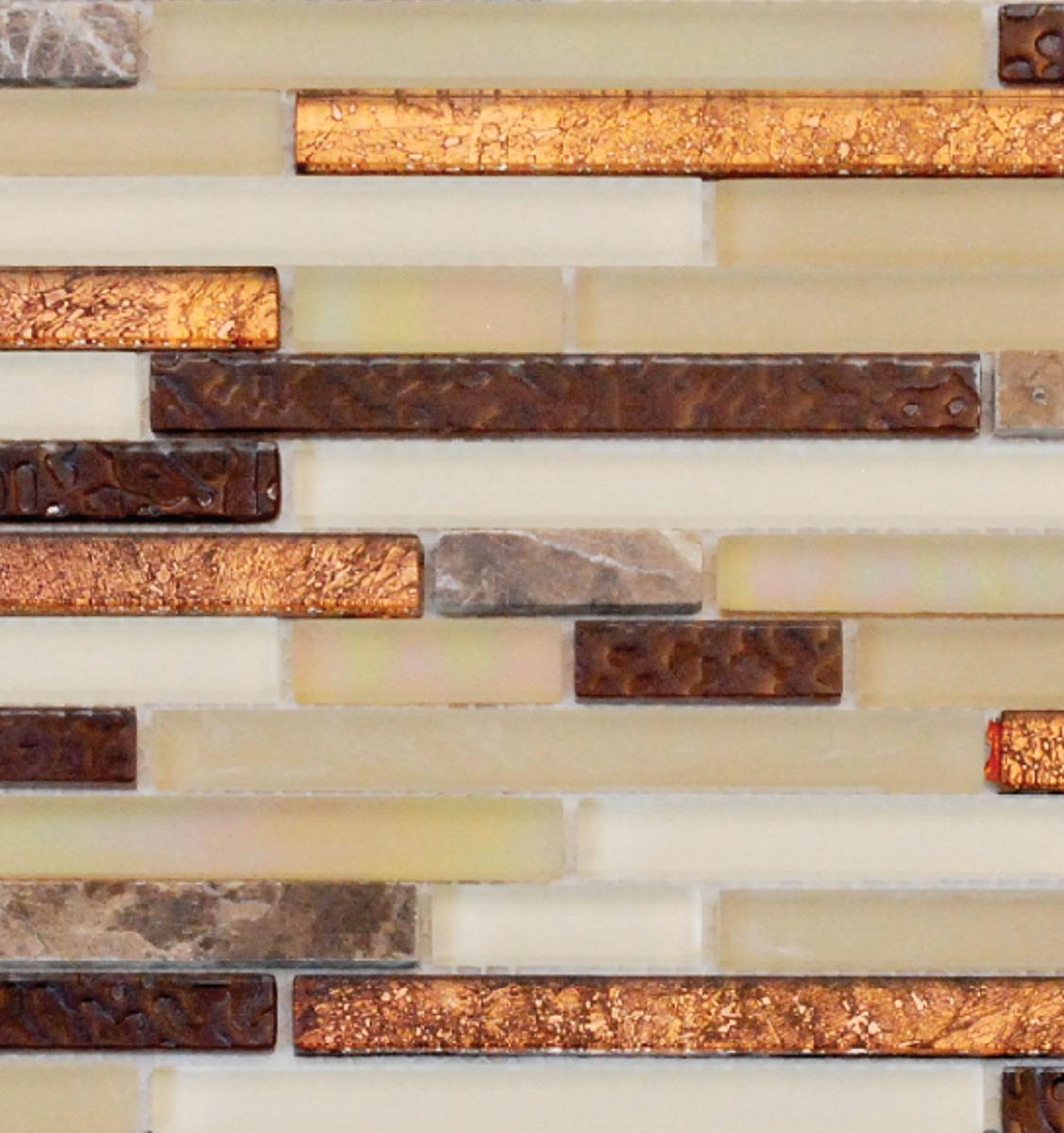 copper glass tile and stone inc random strip mosaic backsplash copper