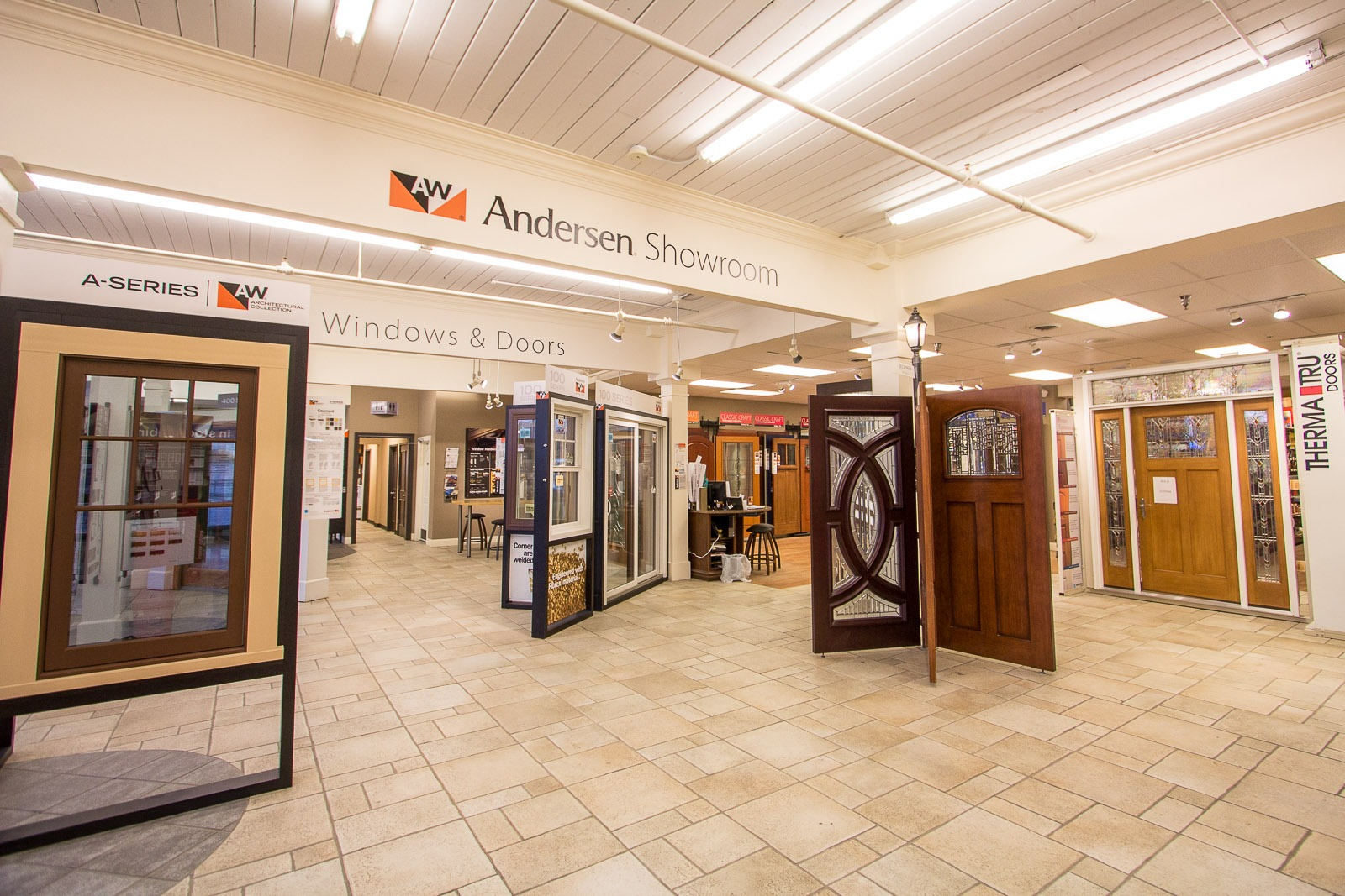 1067 #A1612A Andersen Windows And Doors Showroom IL And IN Schilling save image Andersen Commercial Doors 45371600