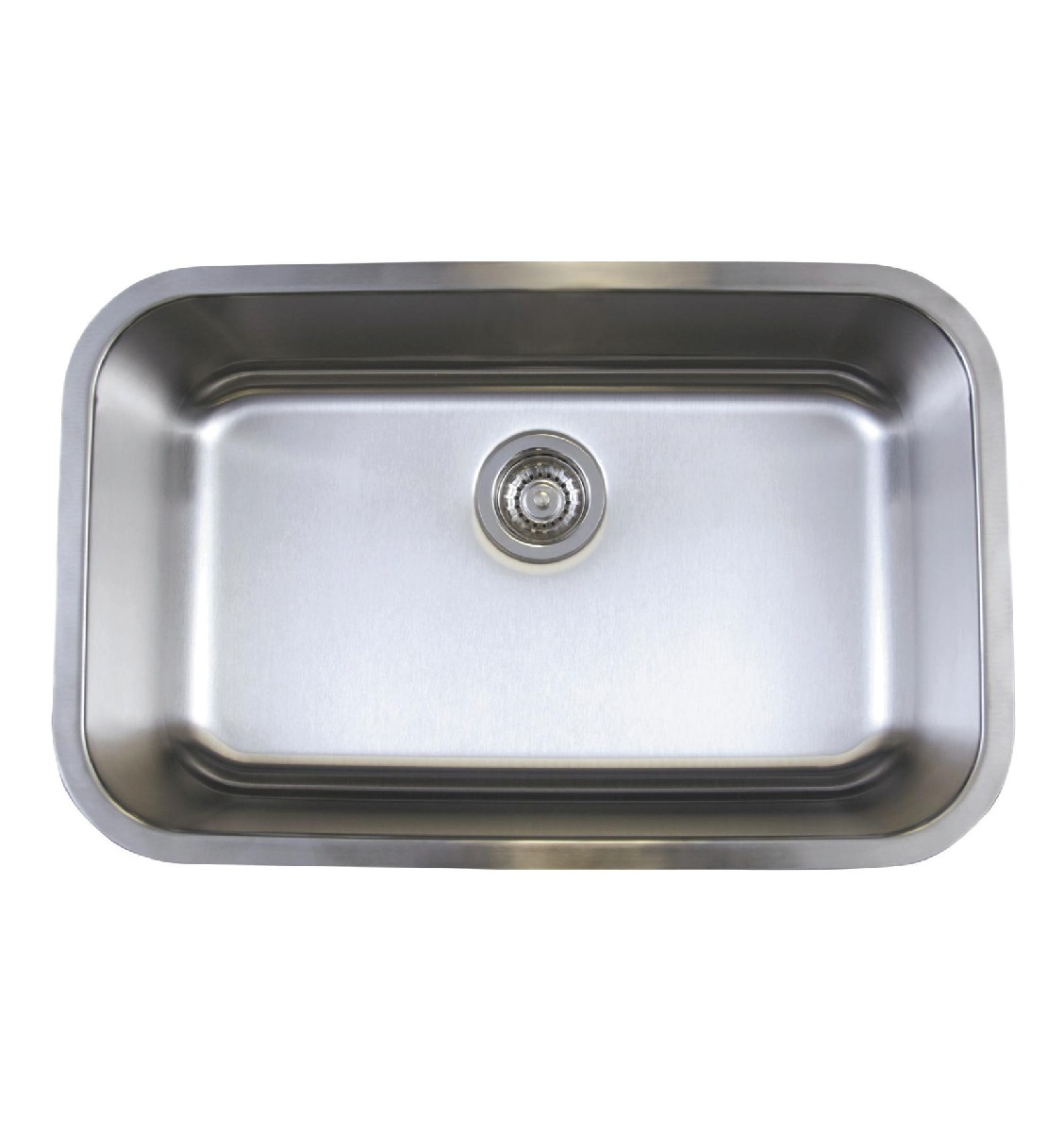 Undermount Stainless Steel Sink Single Bowl : Blanco 441024 Stellar Super Single Bowl, Stainless Steel - Schilling