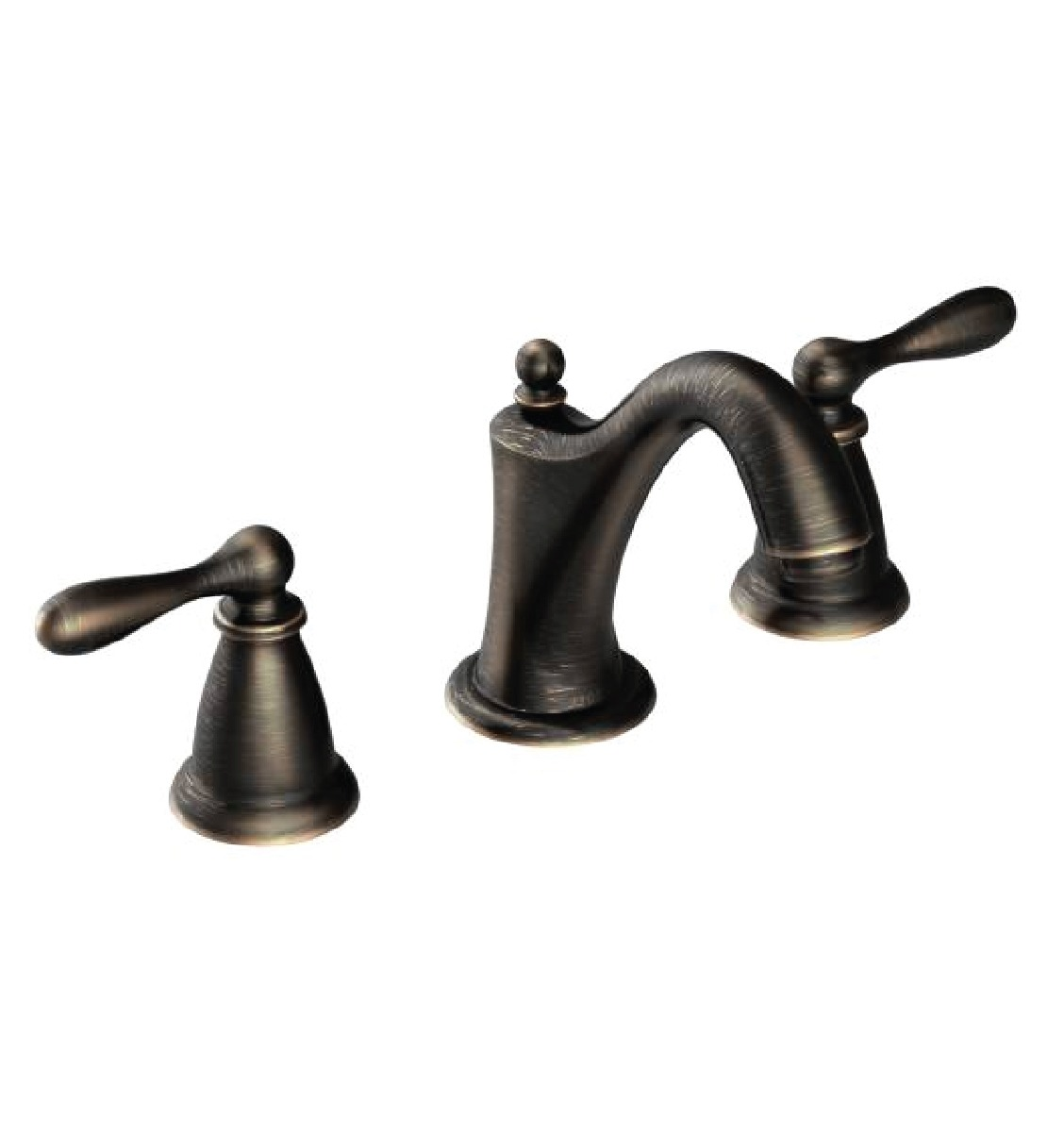 Moen ca84440brb caldwell 4 or 8 two handle high arc bathroom faucet bronze finish schilling - Moen shower faucet ...