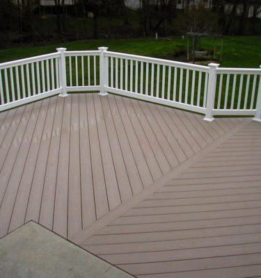 azek harvest brownstone capped polymer decking