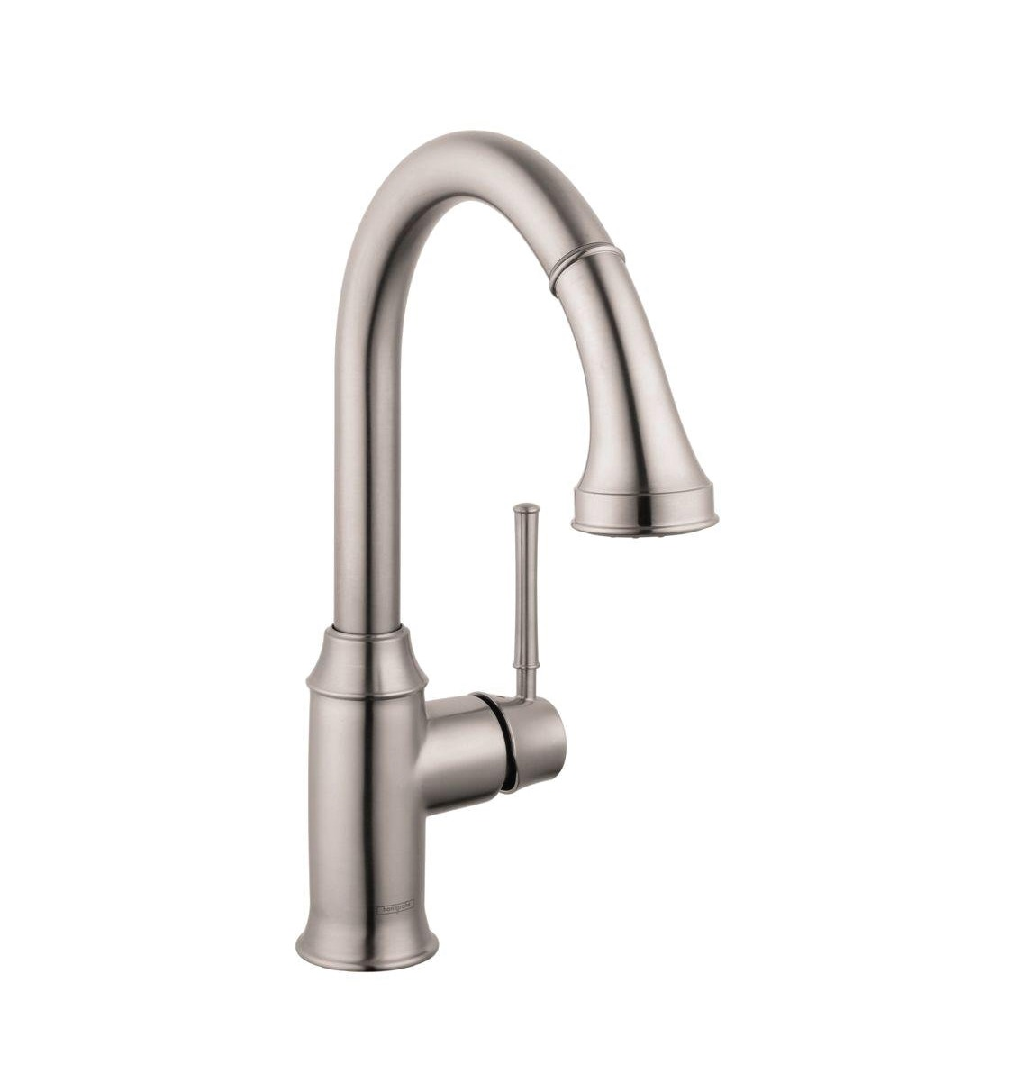 Hansgrohe 04215800 Talis C 2 Spray HighArc Kitchen Faucet Pull Down In Steel