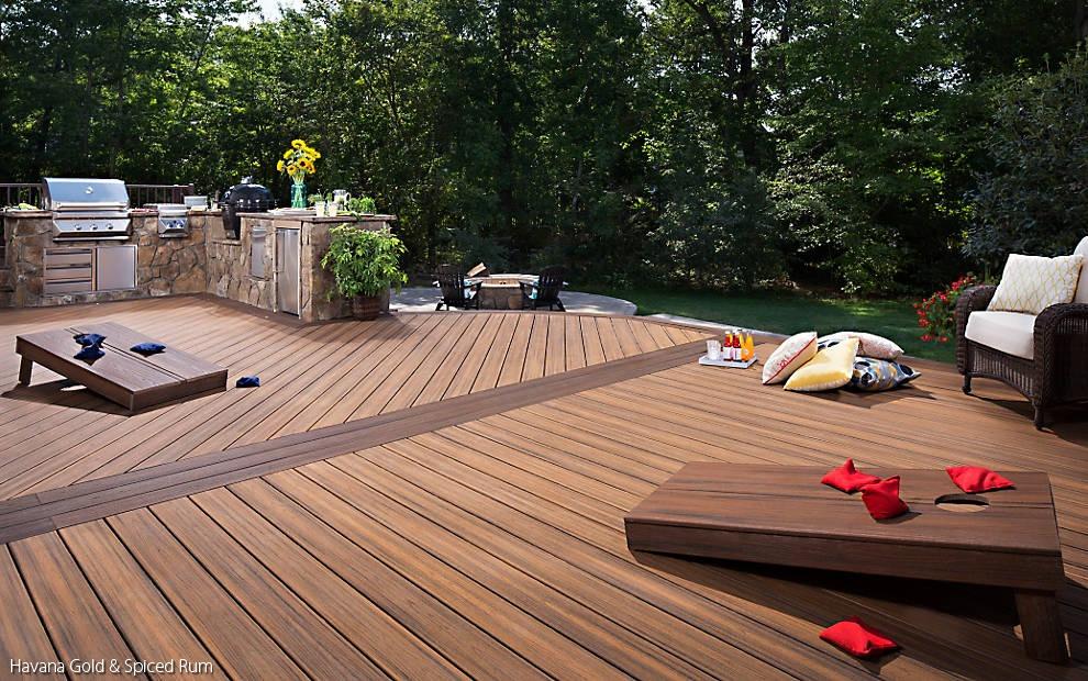 Trex transcend tropics havana gold schillings for Who makes tropics decking