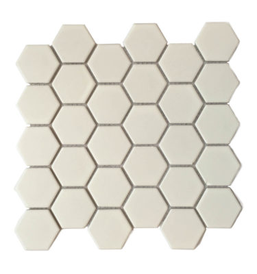 hexagon porcelain mosaic sheet backsplash