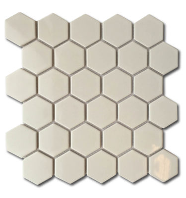 Shiny porcelain mosaic sheet backsplash