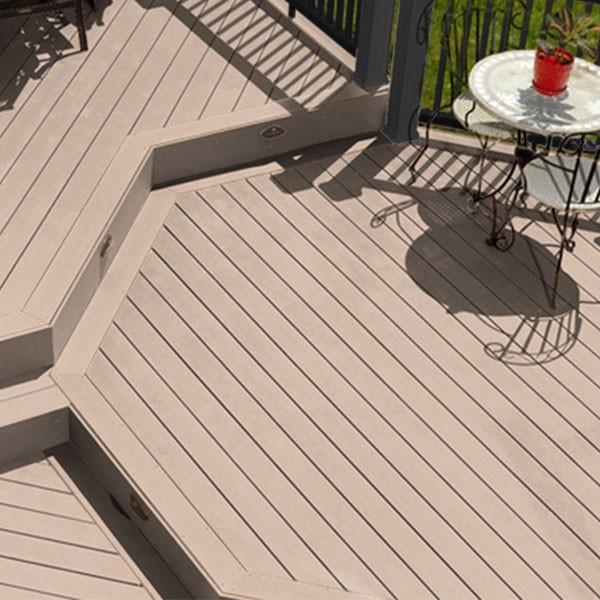 Timbertech terrain sandy birch grooved 16 39 schillings for Balcony decking boards