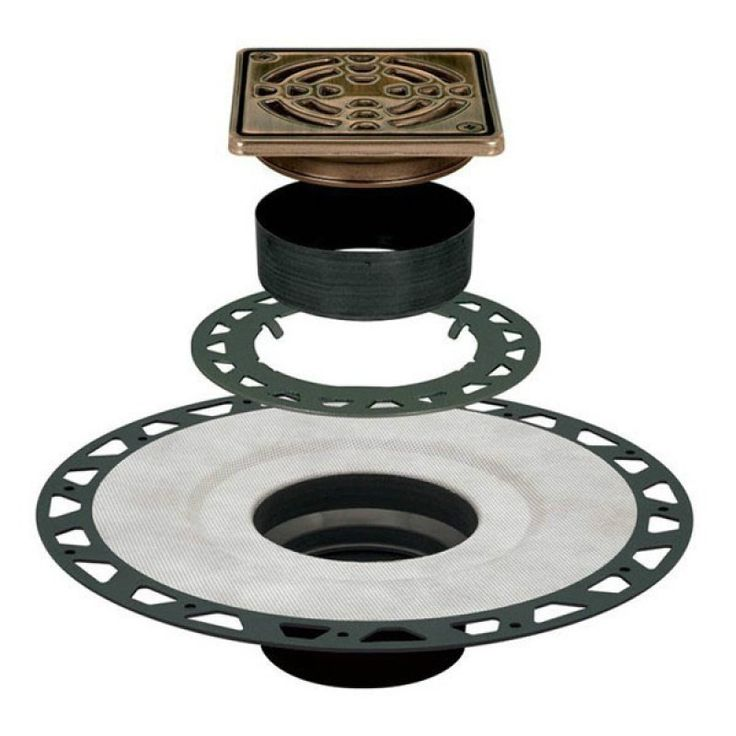 Schluter Systems Kerdi Drain Abs 4 Quot Oil Rubbed Bronze
