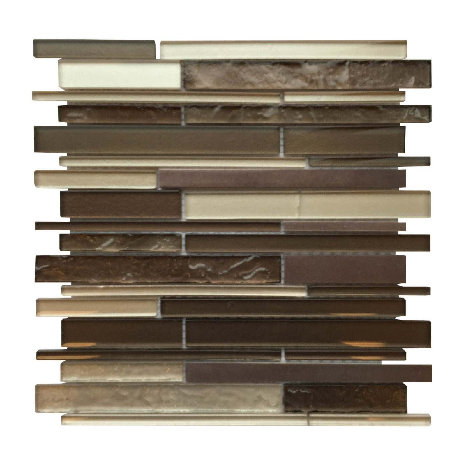 - AL3400 Bronze Glass & Metal Strip Mosaic Backsplash - Schillings