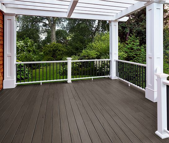 azek arbor collection brazillian walnut pvc decking