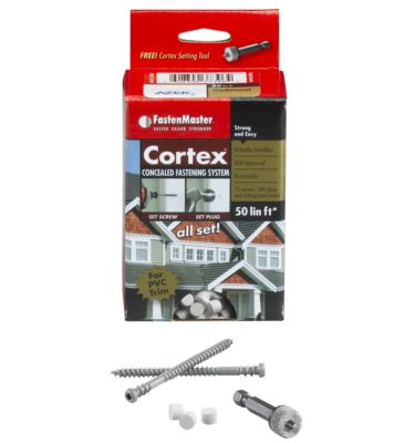 azek traditional cortex hidden fastener system with plugs