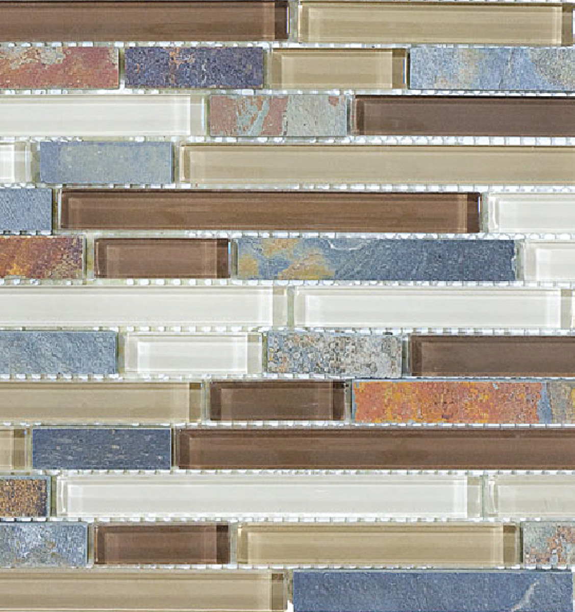 Glass mosaic backsplash iridescent mosaic tile backsplash for Installing glass tile with mesh back