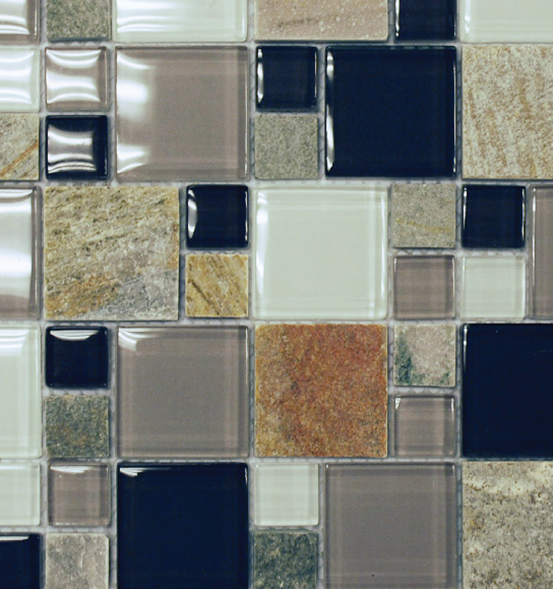 grey glass slate mixed modular 12 x 12 mosaic schillings