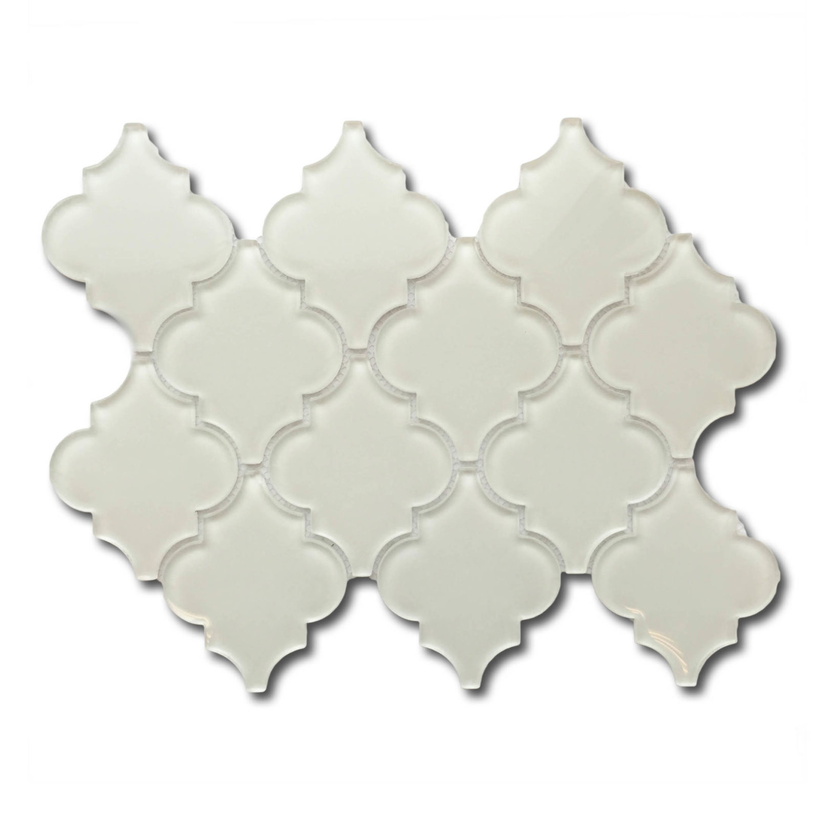 Lantern glass mosaic backsplash