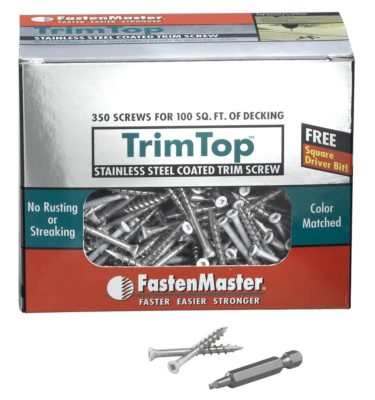 trim top decking screw