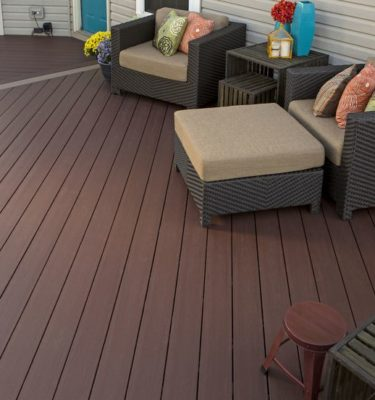 azek arbor collection mountain redwood grooved deck board