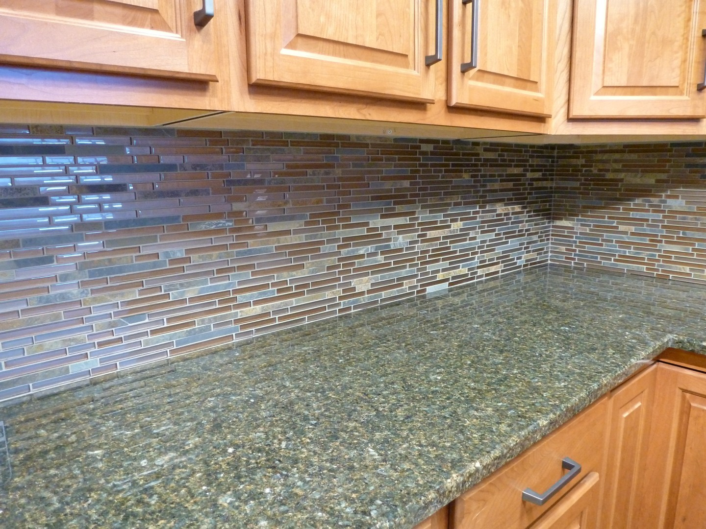Al2650 Glass Tile And Stone Rustic Slate Mosaic Backsplash