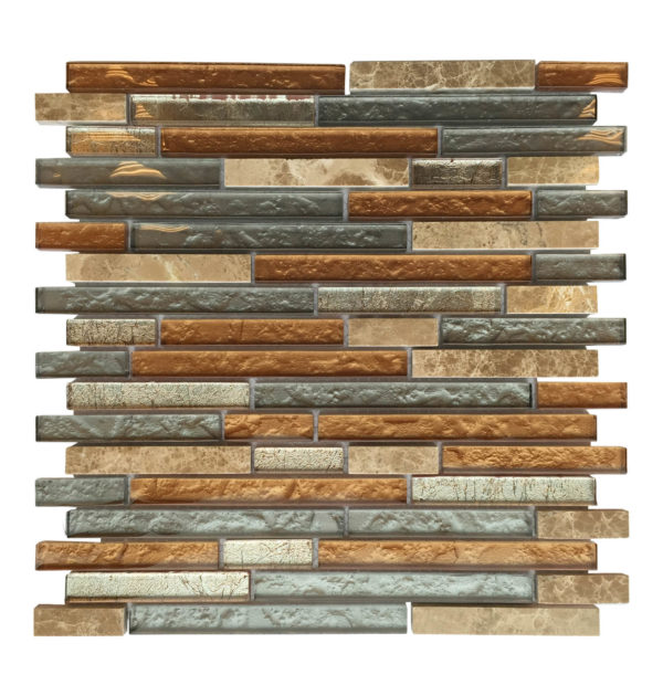 al710 glass tile and stone strip mosaic backsplash