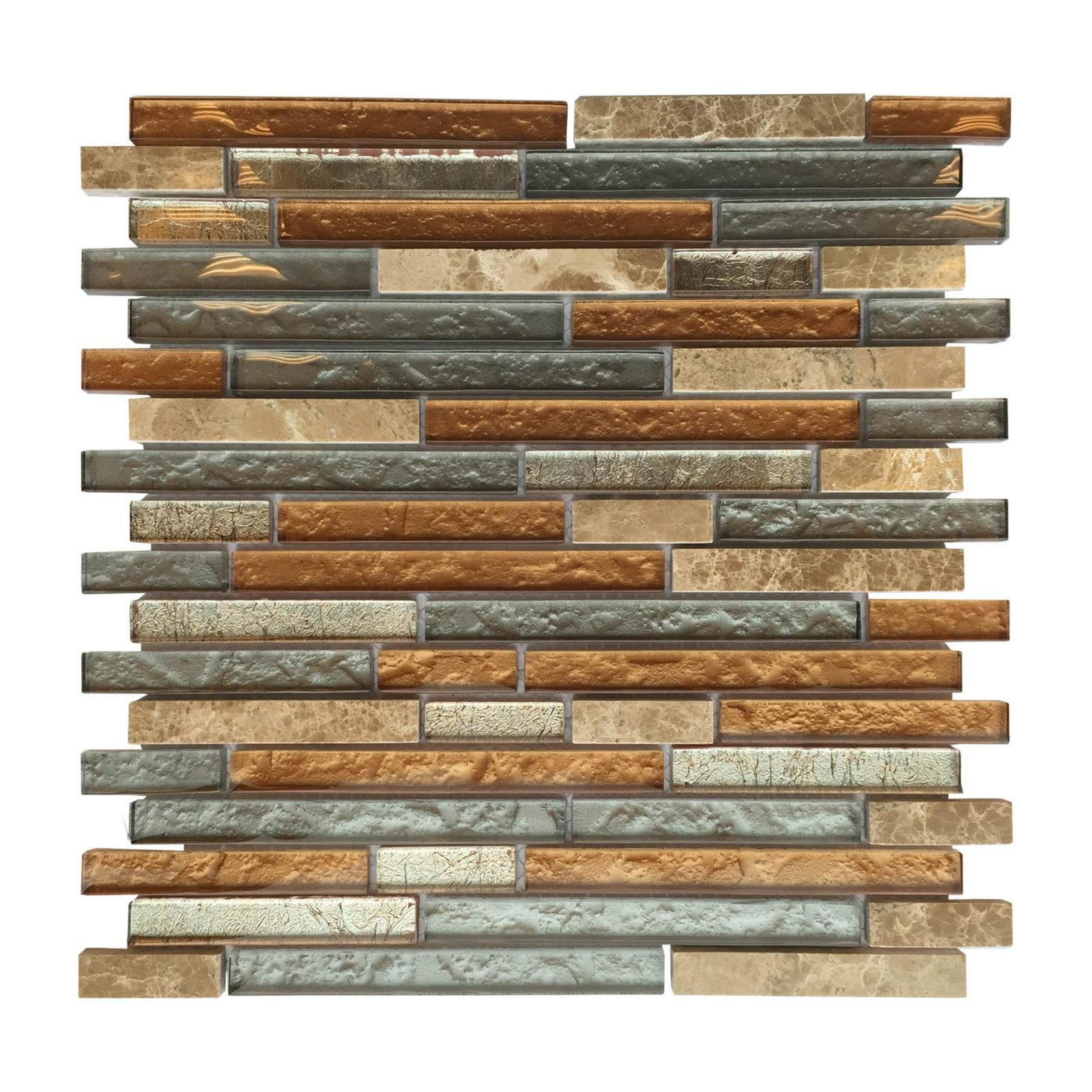 flooring tile glass al710 glass tile and stone strip mosaic backsplash