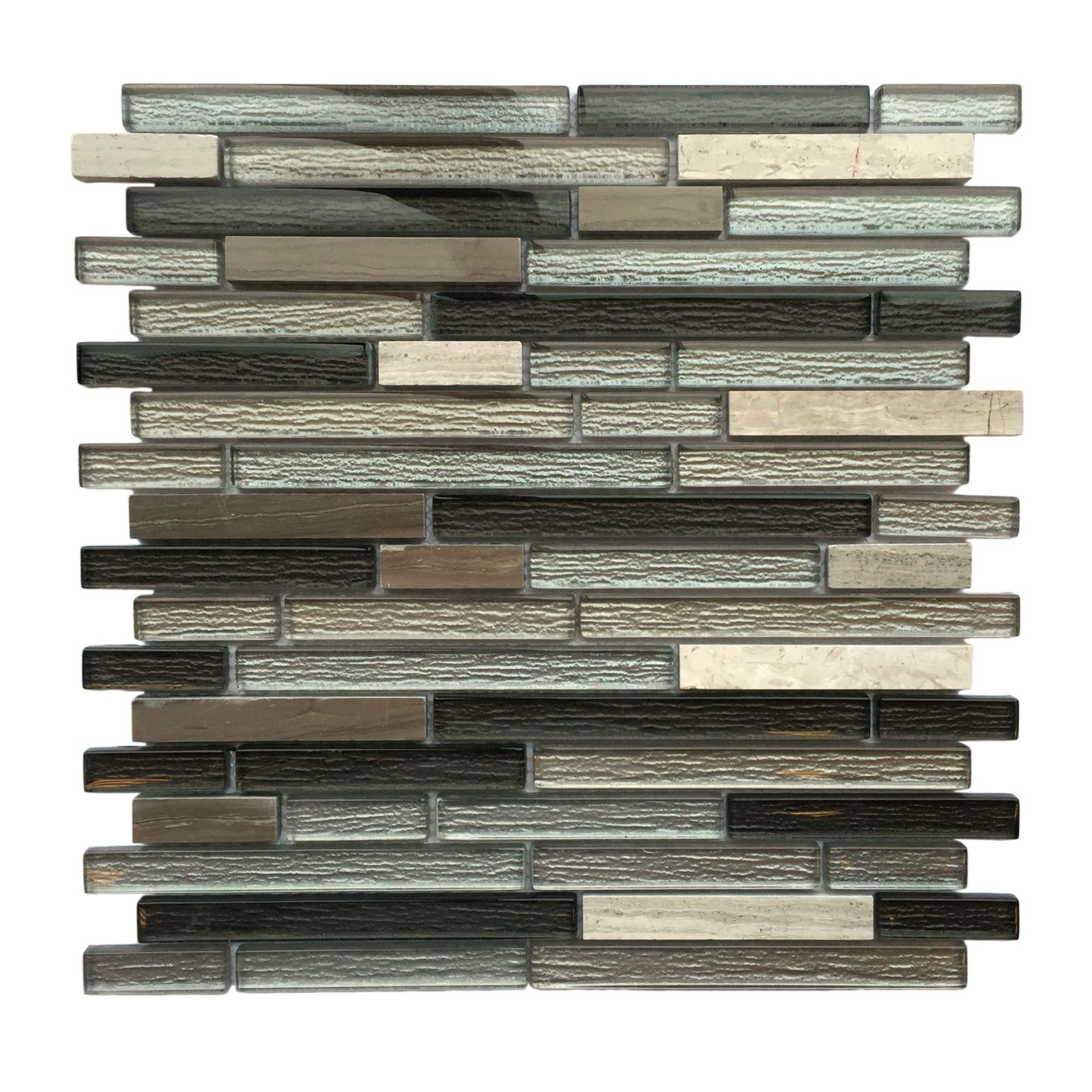 random strip glass and stone mosaic backsplash sheet AL770