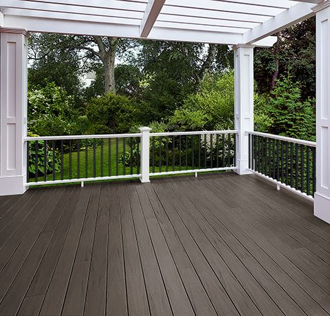 azek arbor collection brazilian walnut pvc decking