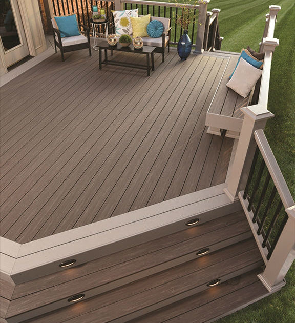 Pvc Porch Boards ~ Azek vintage collection dark hickory solid  schillings