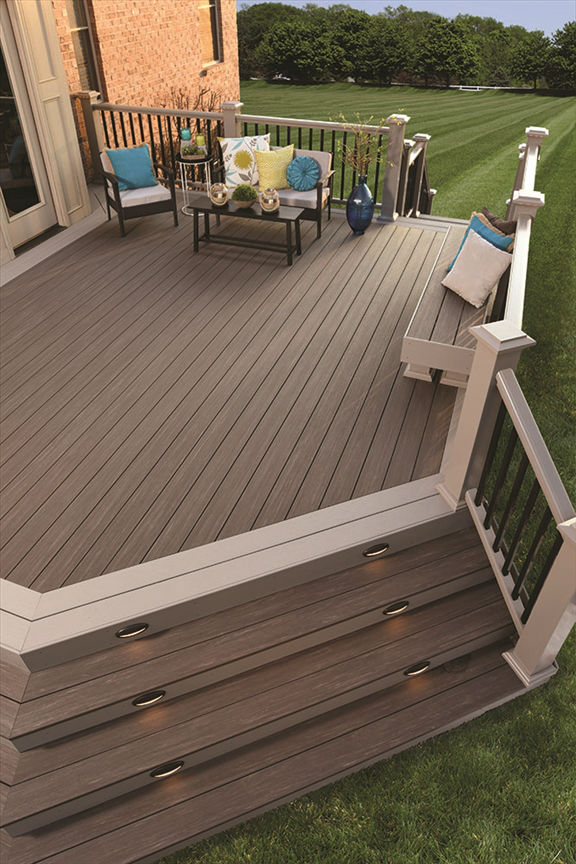 Azek vintage collection dark hickory solid 16 39 schillings for 6 inch wide decking boards