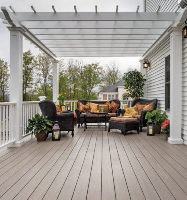 Azek Silver oak arbor collection pvc decking