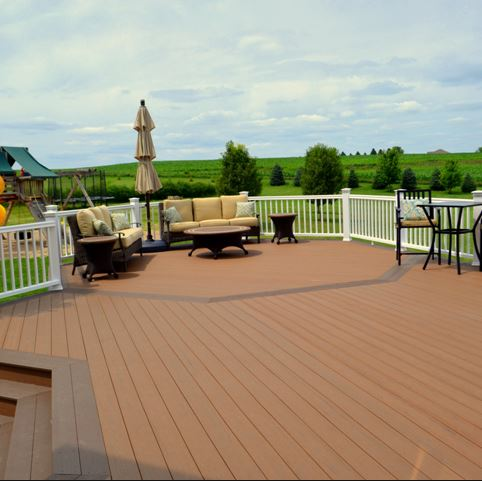Timbertech terrain brown oak solid 20 39 schillings for Capped composite decking