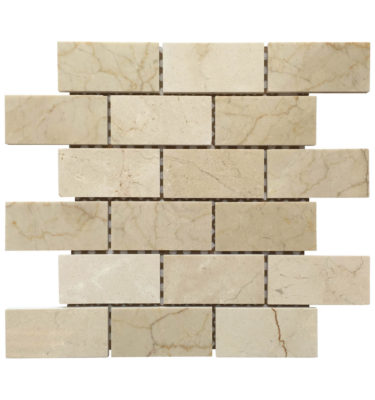 brick mosaic backsplash sheet