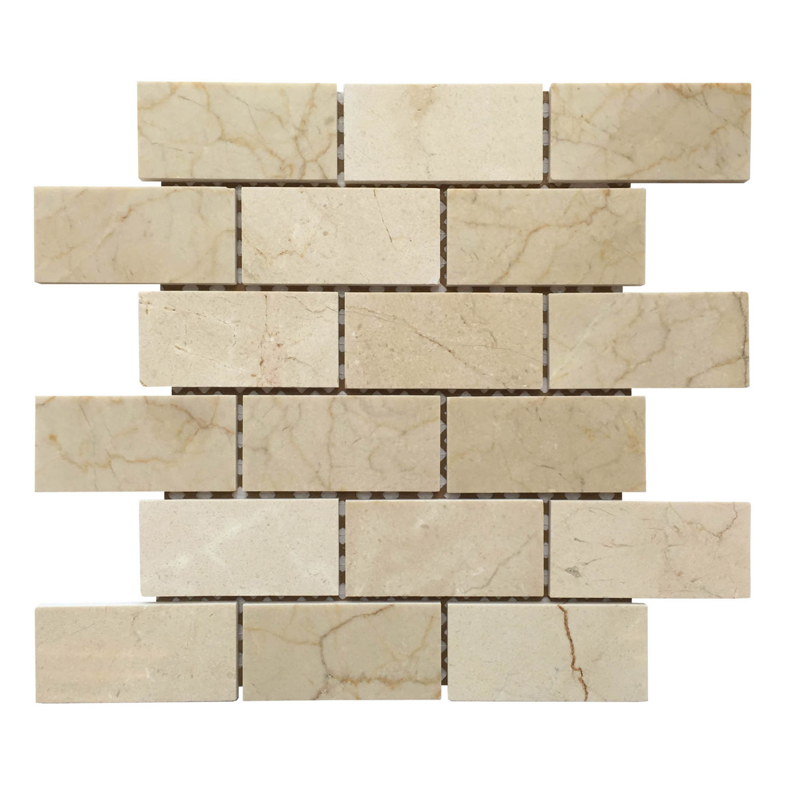 brick mosaic backsplash sheet