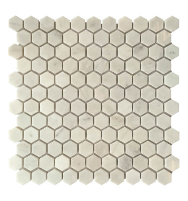 hexagon mosaic backsplash sheet