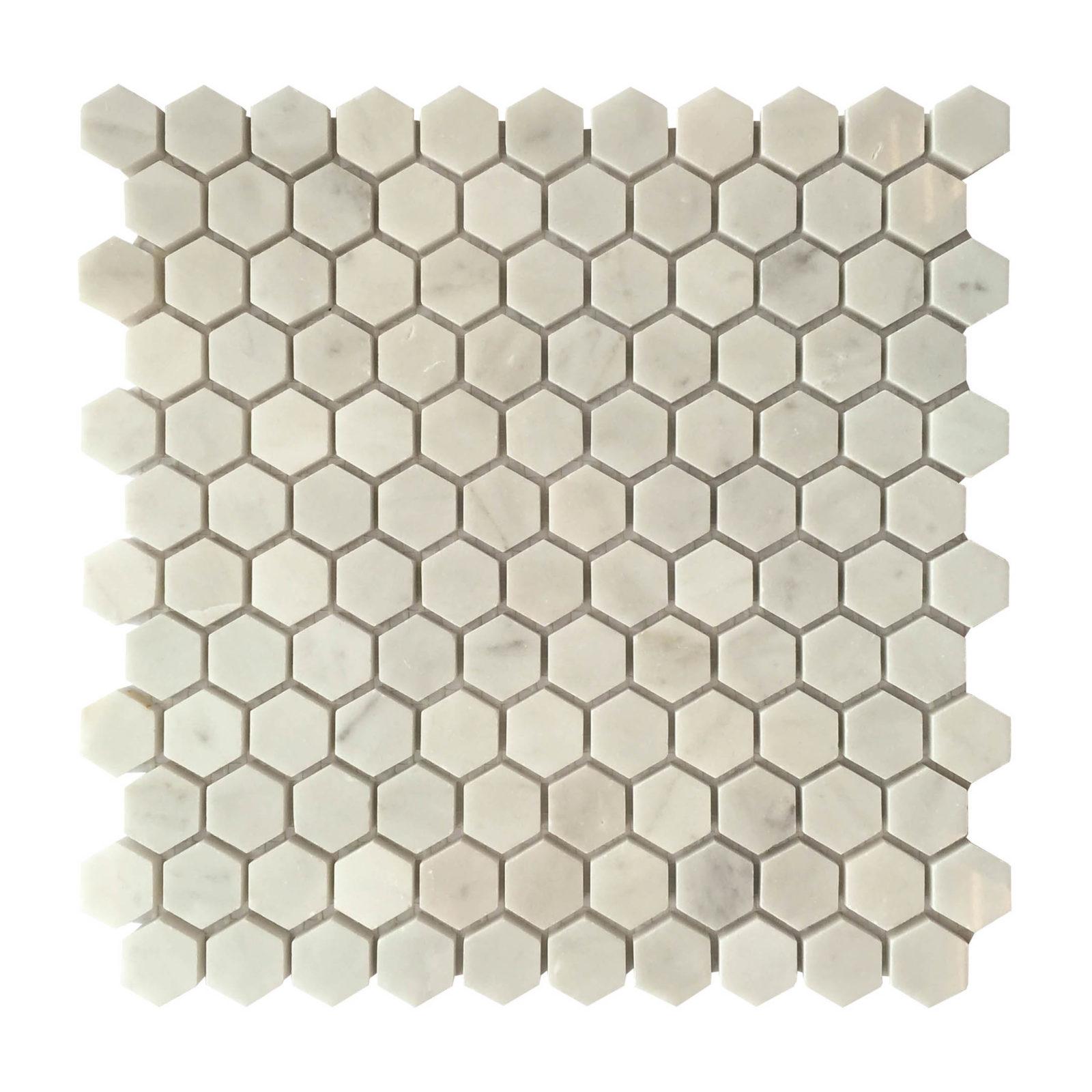 hexagon mosaic backsplash sheet