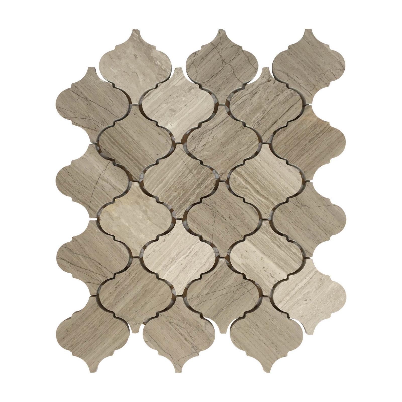 lantern porcelain mosaic backsplash