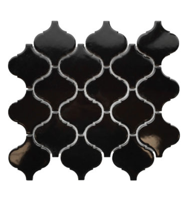 lantern porcelain black mosaic sheet backsplash