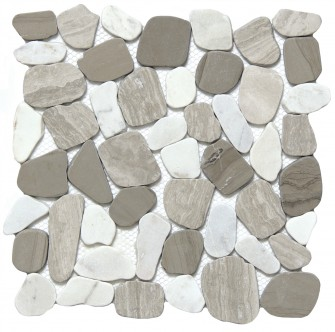 "Flat Cultura pebble winter by emser tile 12"" x 12"""