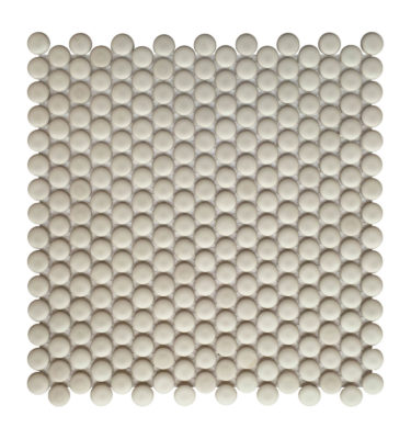 penny grey sheet mosaic backsplash