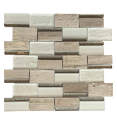 rectangle glass mosaic backsplash sheet