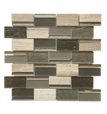 rectangle glass mosaic backsplash