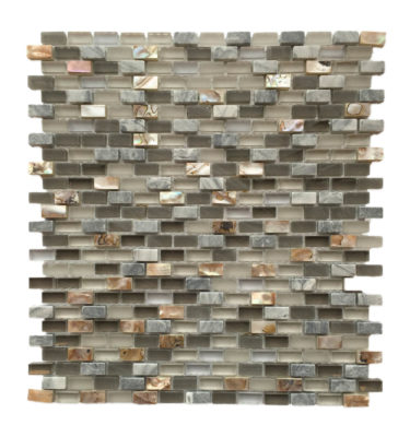 mini brick mosaic backsplash