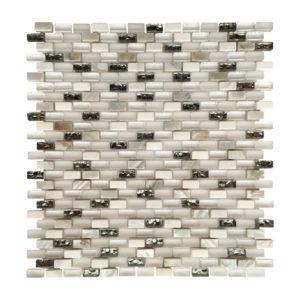Shell white mini brick mosaic