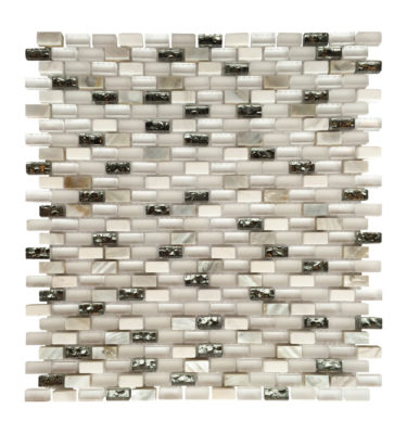 Shell white mini brick mosaic