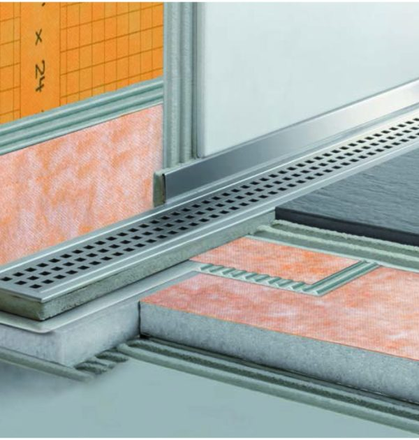 schluter shower systems k line 28 frameless flush shower. Black Bedroom Furniture Sets. Home Design Ideas