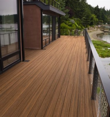 Timbertech tropcial antigua gold composite decking