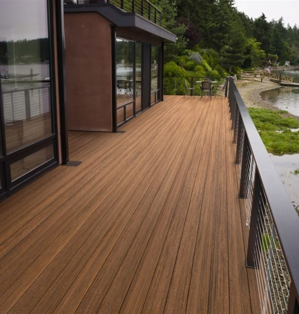 Timbertech tropical antigua gold grooved 16 39 schillings for What is capped composite decking