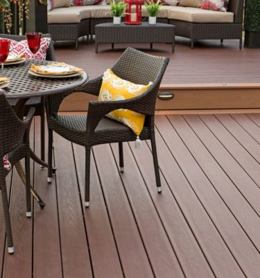 Timbertech tropical caribbean redwood composite decking
