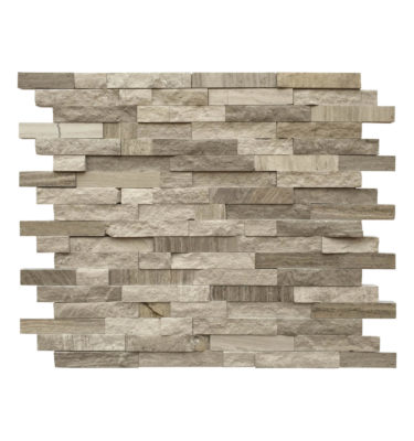 wooden grey random strip mosaic backsplash sheet