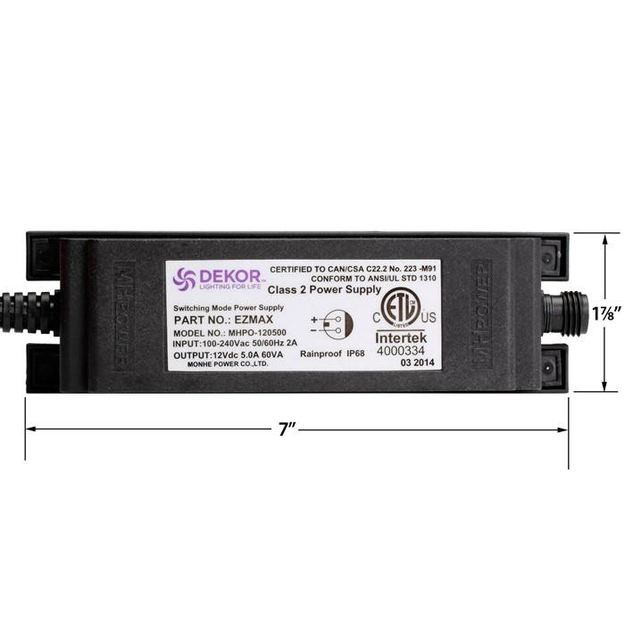 low voltage interior lighting kits%0A EZMAX LED Transformer  u        Watt   V DC